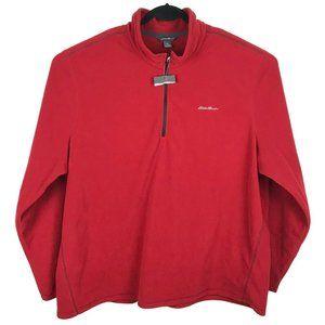 NWT Eddie Bauer Men's 3XL Fleece 1/4 Zip Sweater
